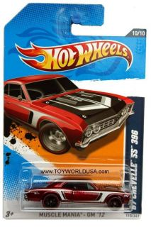 2012 Hot Wheels Muscle Mania GM 110 67 Chevy Chevelle SS 396 Super