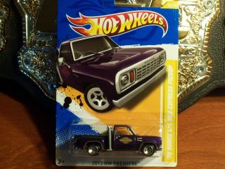 New 2012 Hot Wheels 78 Dodge L1L Red Express Pickup Truck Purple