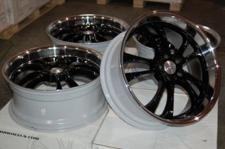 ADR 78 STERLING WHEELS RIMS BLACK 20X8 5 5X114 3 G35 350Z JEEP GMC