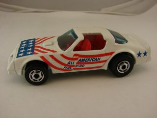Hot Wheels Hot Bird All American White Red Interior Cho Wheels