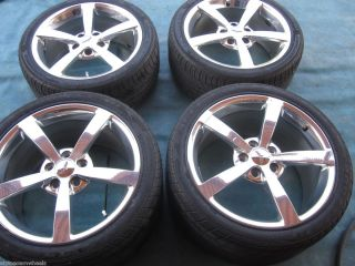 18 19 Chevy Corvette C6 Wheels Rims Two Tires Polished Gumpy