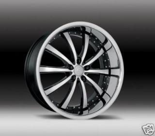 22 Fox RS Futura Black Alloy Wheels Mercedes