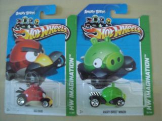 2012 Hot Wheels Minion Red Bird from Angry Birds New Model in Package