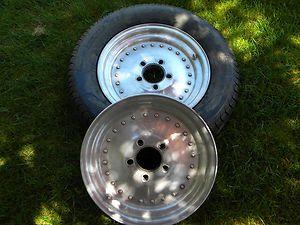 Pair Centerline Front Runner Wheels 15x3 5 Dual Bolt Pattern