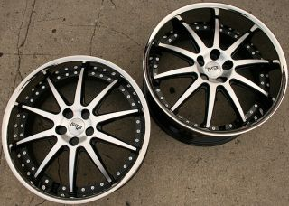 Niche Spa 22 Black Rims Wheels Nissan 350Z Staggered 22 x 9 0 10 5 5H