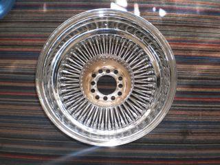 15x8 Wire Wheel 80 Spoke Reverse Bolt On
