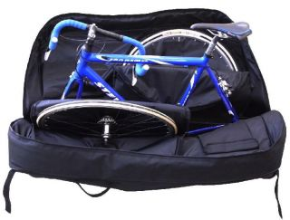 Bike Bag Hybrid Travel Bicycle Case Light Weight 4 Wheels
