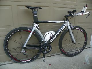 Cervelo P3C TT Bike SRAM Red Carbon No Wheels