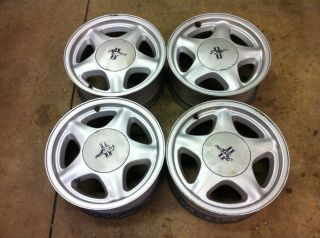 87 93 Ford Mustang Factory Pony Wheels 4 Lug 16x7 5 Star w Caps
