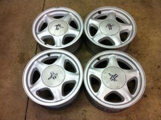 87 93 Ford Mustang Factory Pony Wheels 4 Lug 16x7 5 Star w Caps