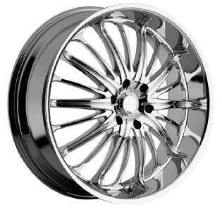 20 inch 20x8 5 Akuza Belle Chrome Wheels Rims 5x120