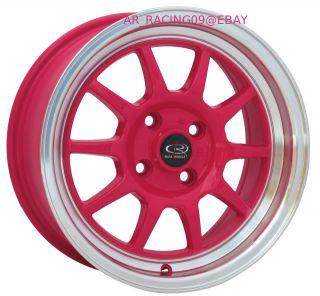 15 Rota Wheels Rims GT3 Pink Mini Cooper XB XA Yaris 93 98 Jetta Golf