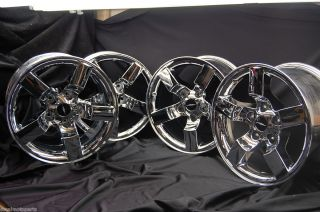 Lightning Chrome Factory wheels rims hub cabs center CHROMED OEM 4 pcs