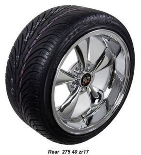 17 9 10 5 Chrome Bullitt Wheels Nexen Tires Rims Fit Mustang® 94
