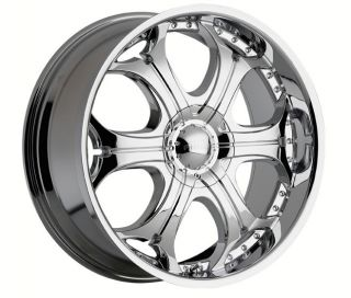 22 inch Akuza Spur Chrome Wheels Rims 5x115 Dodge Charger Magnum
