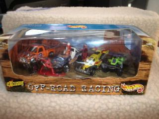 Hot Wheels Off Road Racing Box Set Dune Buggy Pick Up Truck Indy Car