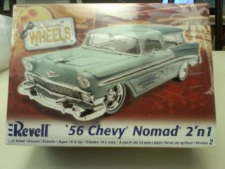 CALIFORNIA WHEELS 56 Chevy Nomad 2n 1 1 25 Scale Model Car Kit 85 2892