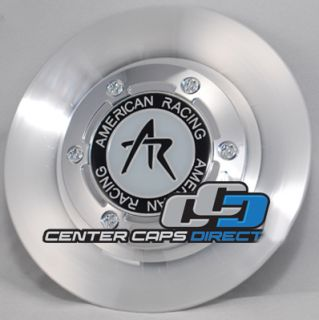 American Racing Wheels Estrella AR95 Machined Silver Center Caps Blow