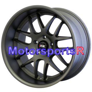 Gun Metal Staggered Wheels Rims Stance 90 95 96 Nissan 300zx TT
