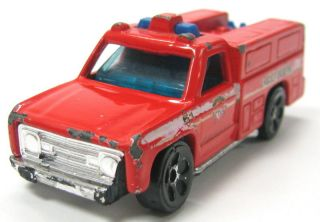 Old Red Fire Engine Truck Mattel Hot Wheels X