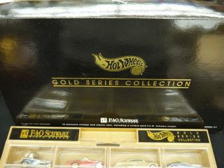 FAO SCHWARZ HOT WHEELS 1994 GOLD SERIES LIMITED EDITION SETS NEW MINT