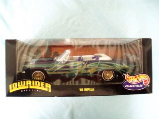 Hot Wheels Collectibles 1965 Chevy Impala Lowrider 1 18 Die Cast Metal