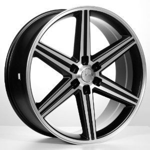 IROC WHEELS BLACK/MACHINED 24 6X139.7 (SET OF 4) 24X9.0 NEW CHEVY GMC