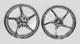 Yamaha YZF R6 s R Models FZ6 Rims New Chrome Wheels Wheel Set