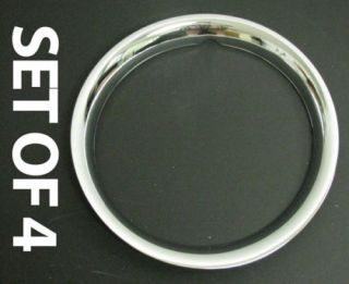 Trim Rings Beauty Rims Chrome Wheel Hubcaps 14