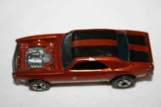 Vintage 1969 Hot Wheels Red Line Heavy Chevy Orange w/ Black Racing