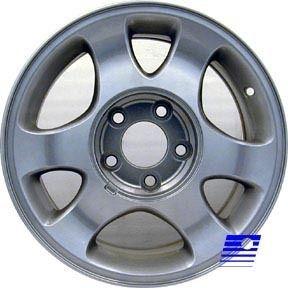 15x7 Factory OE Alloy 6 Spoke Machined Silver Wheel 3304