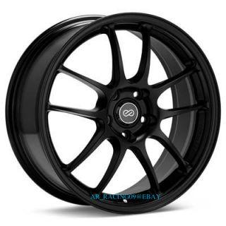 18 18x10 5 Enkei Wheels Rims PF01 Black EVO x 10 9 8