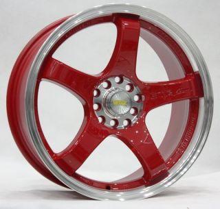 Tenzo Style GTR Red 5x100 114 3 Acura Honda Toyota Mazda Wheels Rims