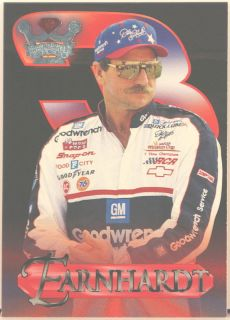 Dale Earnhardt NASCAR 96 Wheels Crown Jewels Card 1