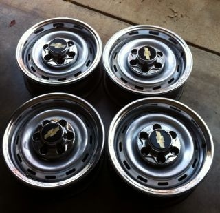 Original GM Chevy Truck Rally Wheels Ralley Stainless
