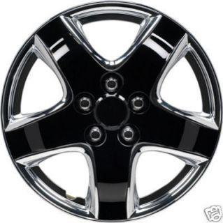 Brand New 15 Black Chrome Car Wheel Trims Hub Caps Full Set of 4