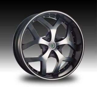 Response Phantom 5x120 Dub 5x100 Tahoe Black Rims Wheels Set