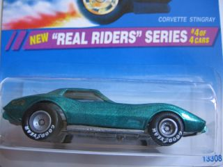 Hot Wheels 1994 Corvette Stingray Real Riders Series Metallic Green