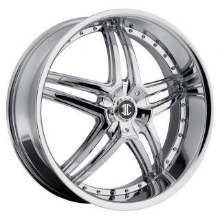 20 inch 2CRAVE NO17 Chrome Wheels Rims 5x120 RL TL Camaro Equinox MDX