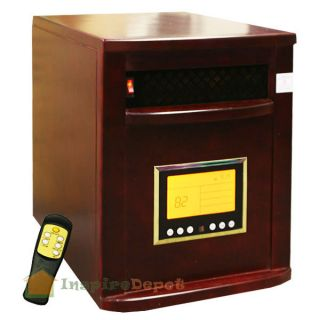 Cherry 1500W Portable Quartz Infrared Heater w Wheels 5600BTU