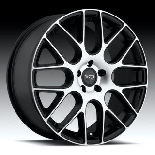 19 inch Niche Circuit Black Wheels Rims 5x115 15 300C Challenger