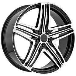 20 inch Menzari Z12 Black Wheels Rims 5x112 45 Volkswagen CC Golf GTI