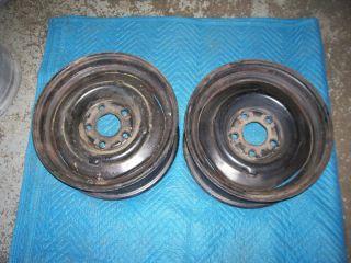 Chev 15x6 Factory Steel Disk Brake Wheels 2