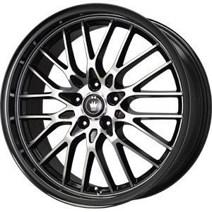 New 16x7 5x100 5x114 3 Konig Lace Black Wheels Rims