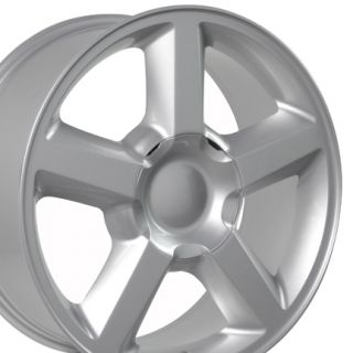 Silver Chevrolet Silverado Tahoe Avalanche OE Factory LTZ Wheels Rims