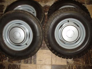 1973TO1979 FORD F 100 F 150 STOCK STEEL WHEELS ORIGINALS WITH HUB CAPS