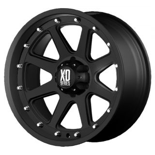 17 inch XD Addict Black Wheels Rims 6x4 5 6x114 3 18mm