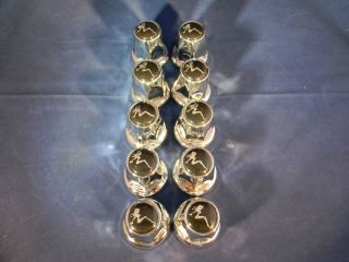 33mm Chrome Sitting Lady Lug Nut Covers Set of 10