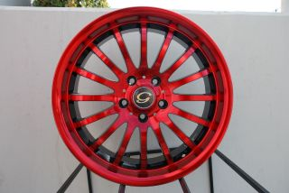 Line G601 Wheel 5x108 114 3 40 Red Black Rim Fits Scion TC XB