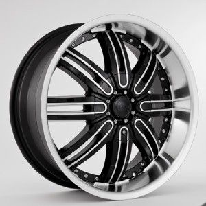 22 x 9 5 Starr Wheel Group 112 Black Wheels Tires